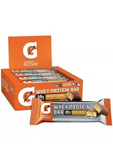 (72) Gatorade 20g Protein Bars Chocolate Caramel 2.8 oz Bars BB DATE 8/2020 Lot