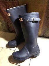 Hunter Original Kids Girls Purple Rubber Tall Rain Winter Boots W23500 Sz 1M 2F