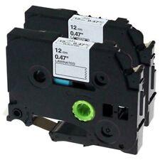 2-Pk/Pack TZe231 TZ231 Black/White Label Tape For Brother P-Touch PT-D210 12mm
