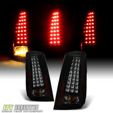 Blk Smoked 2003-2007 Cadillac CTS V LED Tail Lights Brake Lamps 03-07 Left+Right