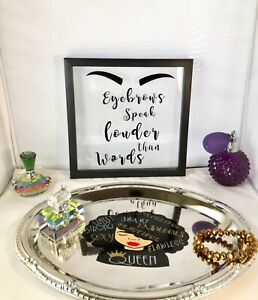 Make Up Quote Black Frame Shadow Box Table Decor Wall Accent Black Friday Sale