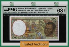 TT PK 502Nh 2000 CENTRAL AFRICAN STATES 1000 FRANCS PMG 68 EPQ SUPERB NONE FINER