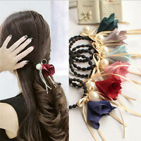 Women Girls Hair Band Hair Rubber Band Pearl Hair Accessory Elastic Hair Rope LJ