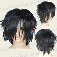 12 inch Hi_Temp Series  Black Shaggy cut Cosplay DNA Wigs 72001