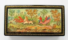 QUALITY RUSSIAN LACQUER BOX FROM ESTATE COLLECTION #7 signed & dated 1973