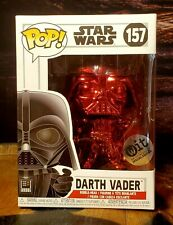 Funko POP! Star Wars Darth Vader Red Chrome #157 WIT Special Edition - BRAND NEW