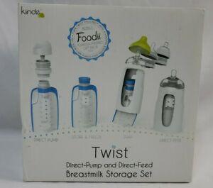 New Kiinde Twist Direct-pump & Direct-Feed Breastmilk Storage Set Foodii Bonus