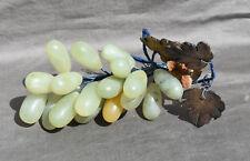 Grande Grappe de Raisins en Pierre Dure Jadeite ASIE CHINE INDOCHINE