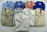 Lot of 9 Men's Size 16 33 Long Sleeve Dress Shirts Gold Label Roundtree & Yorke