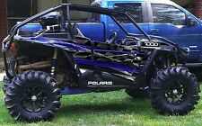 Polaris RZR 1000 graphics wrap kit Factory Door decals Blue