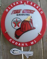 LIGHTED SIGN TEXACO OR OTHER PETROLIANA VINTAGE STYLE