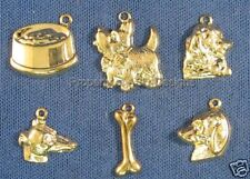 60pc Gold Plated Dog Pet Animal Lot Charms 5816