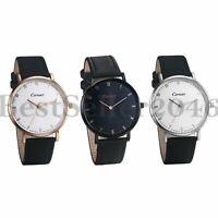 Luxury Men Women Genuine Leather Waterproof Analog Quartz Sports Wrist Watch