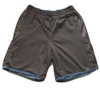 Nike Men's Sz L Basketball Shorts Blue/Gray Satin Shiny Reversible Rare Vintage