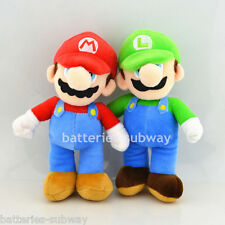 Lot 2 pcs New Super Mario Bros. Brothers Mario Luigi Plush Stuffed Dolls Toy