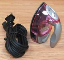 Unbranded Miniature Dry Iron (Y-826) See Through Pink Travel Clothes Iron Only!
