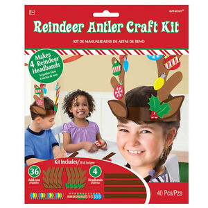 Christmas Reindeer Antler Craft Kit Kids christmas Activity Game CLEARANCE CHEAP