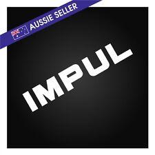 IMPUL Sticker Decal WHITE suit R31 Skyline GTS GTSX JDM R32 R33 Hoshino Drift