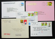 Asia Japan Singapore Set of 5 Covers Letters Asien Singapur Lupo Briefe (H-8589