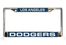 Los Angeles Dodgers Laser Cut Chrome Metal License Plate Frame