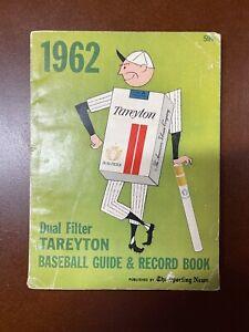 Vintage 1962 Tareyton tobacco Baseball Guide And Record Book