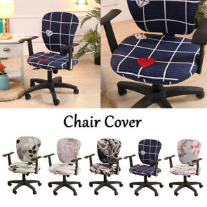 Stretch Chair Cover Swivel Spandex Polyester Rotate Seatcover Home Office Decor/