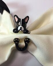 Kate Spade Frenchie ma chérie antoine French Bulldog Ring, Sz. 7 W/ KS Dust Bag