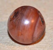 Ancient Carnelian Agate Tribal Stone Round Bead Excavated Mali, African Trade