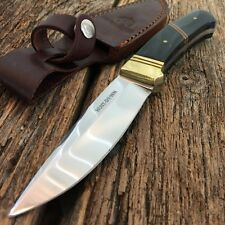 "8.5"" GENUINE HORN HANDLE FULL TANG Skinner Hunting Knife Stainless Steel Blade-W"