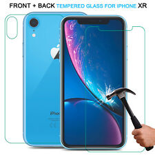 TEMPERED GLASS FILM SCREEN PROTECTOR FOR NEW iPhone XR 2018 Front Back