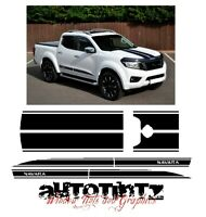 Nissan NP300 NAVARA 2016-18 nguard, tekna style side stripes decal graphics