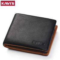 Small Men Wallet Genuine Leather Coin Purse Portfolio Slim Mini Money Bag