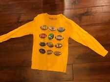 Wes & Willy Yellow Long Sleeve Football T-Shirt in Boys Size M