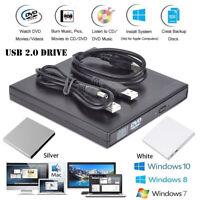 USB 2.0 DVD - RW Unidad optica externa Quemador de CD Reproductor CD - ROM