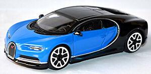 Bugatti Chiron Coupe 2016-20 Bicolor Blue Black 1:43 Bburago