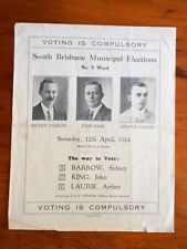 Queensland Labor Party. [Election brochure]. South Brisbane Municipal Elections.