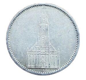Germany Nazi 5 Reichsmark Church Swastika 1935 J .900 Silver Lot  363