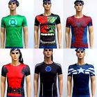 Mens Compression Armour Base Layer Top Superhero T-Shirt Under Skin Shorts Pants