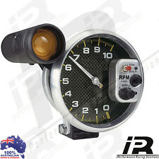 "5"" Carbon Fiber Tachometer Tacho Gauge RPM + Shift Light 10000 RPM"