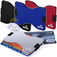 Porta CARTE di CREDITO Custodia RFID per Sicurezza TESSERE Documenti CONTENITORE