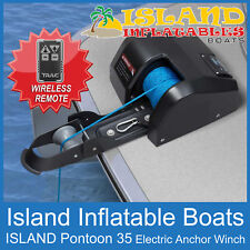 ANCHOR DRUM 12V WINCH ISLAND✱ PONTOON WIRELESS REMOTE ✱ Model 35 Boat < 22ft 7m