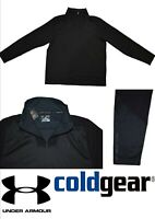 UA ColdGear® Infrared Men's LOOSE FIT Mock Neck Long Sleeve 1/4 Zip Top (UAM32)