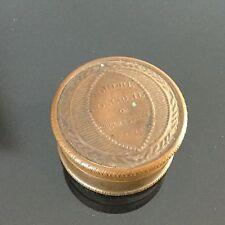 Boite Ancienne Roger & Gallet Poudre Concrète en Cuivre Art Nouveau 1900 Compact