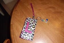 """JUSTICE WRISTLET WALLET WITH LETTER """"L"""" INITIAL WITH LETTER L KEYCHAIN GIRLS"""