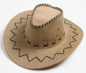 1pc Unisex Western Cowboy Hat Horse Rider Camping Sunhat Cowgirl Hat 15 colors