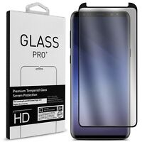 For Samsung Galaxy S9 Plus S8 S7 edge Tempered Glass Full Cover Screen Protector