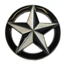 NAUTICAL STAR BELT BUCKLE WHITE 4 SAILORS NAVY SEA OCEAN MARITIME FIT SNAP BELT