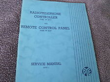 Amateur Radio Manual Pye / Philips PT RTC Control Panel