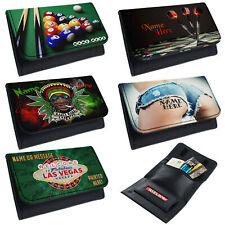 More details for personalised tobacco pouch casino rolling baccy wallet smoking gift darts mens