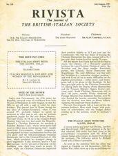 RIVISTA THE JOURNAL OF THE BRITISH ITALIAN SOCIETY n.318